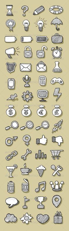 Icons Sketch #GraphicRiver 60 Hand Drawn Icons. ZIP included : AI CS (organized vector file, fully editable 3 layers : objects, shadows, and background), EPS8 (vector file. No layers, Each object is a group), JPEG high resolution 3500×11607 px, and PNG transparent objects without shadow and background. Created: 30April13 GraphicsFilesIncluded: TransparentPNG #JPGImage #VectorEPS #AIIllustrator Layered: Yes MinimumAdobeCSVersion: CS Tags: business #button #clipart #collection #computer…