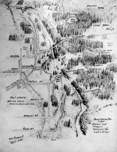 Lynn Valley in as drawn by Mr. Courtesy North Shore Museum and Archives. North Vancouver, Vancouver Island, Construction Jobs, Emergency Management, Stay In Bed, North Shore, British Columbia, Maps