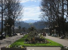 View from Boulevard des Pyrénées - Pau, France