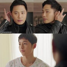 Descendants of the Sun #korean #drama   Bottom panel is that look you get when you're 100% done...