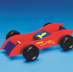 Larger image for Rubber Band Race Cars Craft Kit (makes 12). Favors