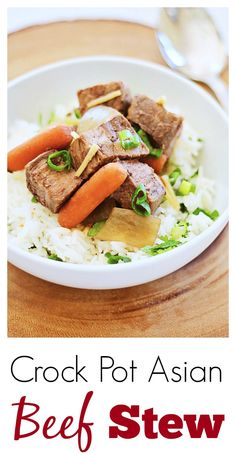 Crock Pot Asian Beef Stew Crock Pot Asian Beef Stew – easy Asian beef stew in a crock pot. Quick and delicious one pot meal that you can make for the entire family | rasamalaysia.com