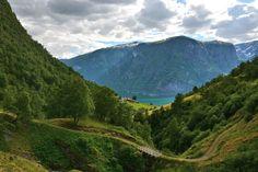 Aurlandsfjorden from above Skjerdal