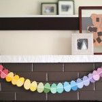 DIY Paint Chip Easter Garland---this is so freakin' easy!  Why didn't I think of this????