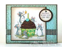 Miniature mice cupcake