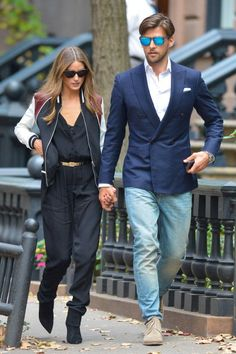 #OliviaPalermo and #JohannesHuebl are seen in the city on November 02, 2013 in New York City.
