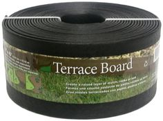Master Mark Terrace Board 5 In. X 40 Ft. Black Landscape Lawn Edging With Stakes. x 40 ft. Black Landscape Lawn Edging coil provides a textured, wood grained look for a raised layer of mulch, rocks or soil. Paver Edging, Brick Edging, Lawn Edging, Garden Edging, Garden Borders, Lawn And Garden, Home And Garden, Garden Bed, Garden Path