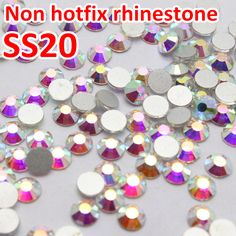SS20 4.6 4.8mm Clear Crystal AB 1440pcs/bag Non Hot Fix Flatback Rhinestone Without Glue For Nail Art And Wedding dress-in Rhinestones from Home & Garden on Aliexpress.com | Alibaba Group