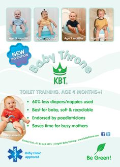 Baby toilet training and baby potty training, information about natural infant hygiene and about baby's physical development.  Baby articles available on various topics.  Babies trainers