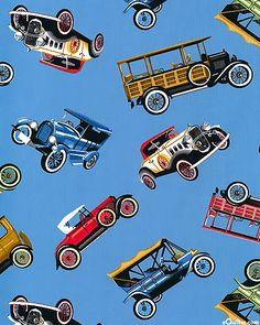 Antique Car Parade - Sky Blue
