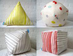 geometric pillows by cloud cloud