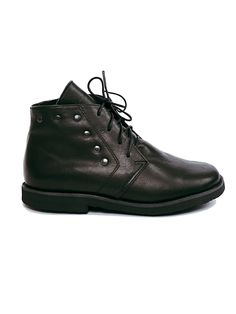 Black handmade shoes from leather
