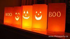 Halloween Paper Bag Lanterns