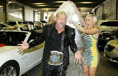 Dolph Ziggler participated in the ALS ice bucket challenge August 2014.