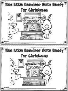 'This Little Reindeer' Emergent Reader (A Christmas/December Dollar Deal) Christmas Names, Christmas Writing, Christmas Minis, Kindergarten Literacy, Preschool Classroom, Preschool Ideas, Sight Word Readers, Sight Words, Winter Activities