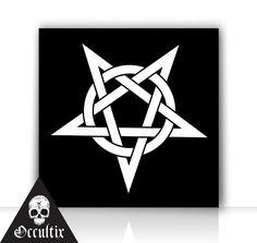Inverted Pentagram occult underground Canvas Print by Occultix