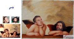 Custom oil portrait-Angels