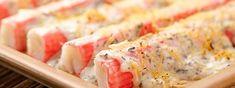 Recetas de cocina Fruco: Palmitos de cangrejo gratinados con mayonesa Fruco. Una comida saludable y deliciosa. Aprende trucos de cocina que te ayudarán a preparar los mejores platos.