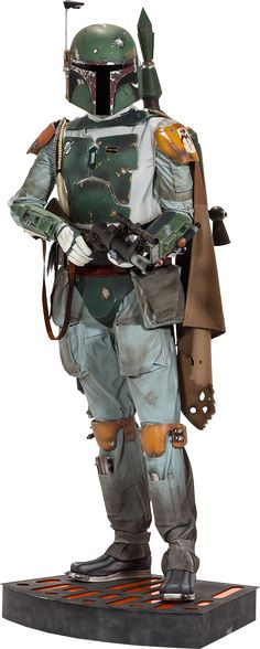 """Star Wars - Boba Fett 1:1 Scale Life-Size Statue Boba Fett, one of the most bad ass bounty hunters in the galaxy has made his way to us in this life sized statue. Featuring a superbly detailed costume this life sized replica will probably scare you every time you turn on the light and see a bounty hunter in your house! But it would totally be worth it to own something so awesome! Product Dimensions: 78.5"""" H (1993.9mm) x 28.5"""" W (723.9mm) x 27"""" L (685.8mm) Brought to you by Popcultcha, ..."""