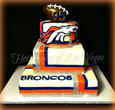 Denver Broncos Birthday Cake