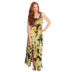 716-991 - Kate & Mallory Stretch Knit Sleeveless Braided Detail Maxi Dress