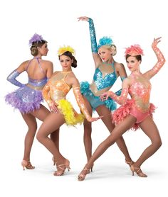 17783 - Razz-ma-tazz colors: 55 Light Turquoise, 61 Yellow, 69 Lavender, 70 Coral by A Wish Come True