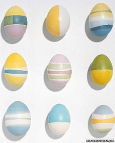 For thousands of years, Ukrainians have created elaborately patterned eggs called pysanky using a wax-resist process. Wax is applied to an egg, which is then dipped in colored dyes. When completed, the wax is melted off, revealing all the colors beneath. Updated and simplified, the same technique can be used to produce these soft watercolor patterns.
