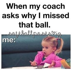 Softball and volleyball😂😂🏐🏐⚾️⚾️ Netball Quotes, Funny Softball Quotes, Volleyball Jokes, Softball Problems, Basketball Memes, Soccer Quotes, Sport Quotes, Basketball Tattoos, Basketball Videos