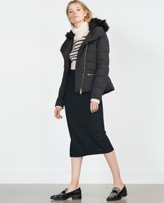 Image 1 of FEATHER ANORAK from Zara