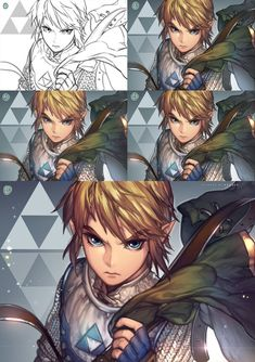 Link step by step by kawacy on DeviantArt