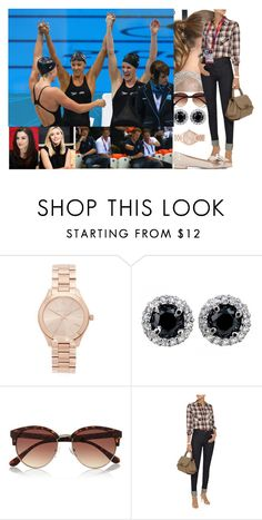 """""""Attending Day 5 of the London 2012 Olympic Games at the Aquatics Centre with Mara, and her younger sister,  Ceri + meeting Prince  Harry again."""" by duchess-danielle ❤ liked on Polyvore featuring Michael Kors, River Island, J Brand, Miu Miu, Olsen and Opening Ceremony"""