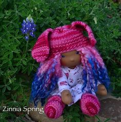 Zinnia Spring  12 inch Dragonfly's Hollow by Dragonflyshollow