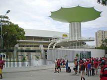 2016 Rio de Janeiro Olympics. Maracanãzinho Gymnasium, site of Volleyball