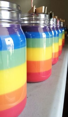 Hippie Candle Garden - Rainbow Candle 16 oz Jar - Spicy Fragrances, $25.00 (http://hippiecandle.com/tie-dye-rainbow-candles/rainbow-candle-16-oz-jar-spicy-fragrances/)