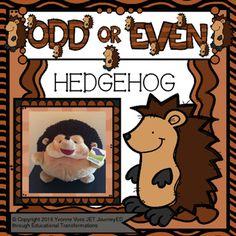 Task Cards Hedgehog Odd or Even
