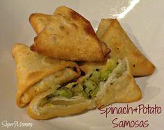 Spinach & Potato Samosas