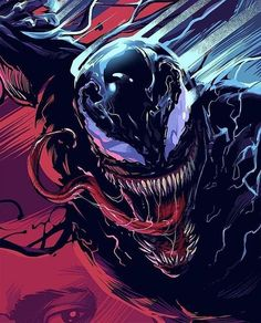 Venom movie fan art a project by heber_nimrod. Venom Comics, Marvel Venom, Marvel Villains, Marvel Comics Art, Marvel Comic Universe, Marvel Heroes, Marvel Avengers, Marvel Characters, Ps Wallpaper