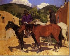 walter ufer artist | Ufer - A Discussion - Approximate Original Size - 40x50 by Walter Ufer ...