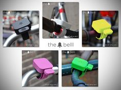 Current color options of The Belll, a Dutch Design bicycle bell. Now on Kickstarter!