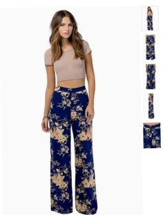 High waisted wide legged trousers I love hippie style x