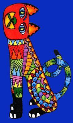 Mexican Art Gato alebrije https://www.etsy.com/shop/Kalakita?ref=hdr_shop_menu