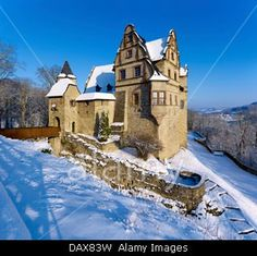 Oberschloss, Upper Castle, Kranichfeld, Thuringia, Germany Stock Photo, Picture and Royalty Free Image.Pic 58354797