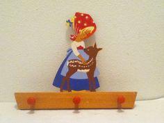Mertens Kunst wooden coat rack by FusionaryVintage on Etsy, $25.00