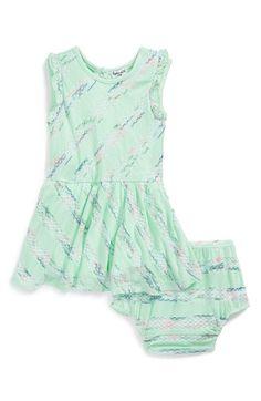 Splendid 'Fashion Stripe' Flutter Sleeve Dress & Bloomers (Baby Girls) available at #Nordstrom