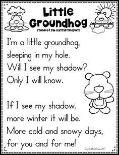 Groundhog Day Song Printable