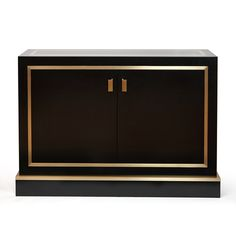 Contemporary/Modern Buffet Cabinet with fine gold detailing.  (re-pinned by Victoria Stainow)
