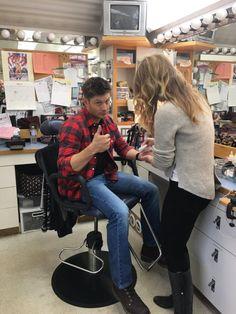 Jensen Ackles on set April 4, 2017