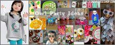 owl party ideas - balloons, mask for photo/craft, food ideas