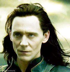 Burdened with glorious Loki locks (gif)