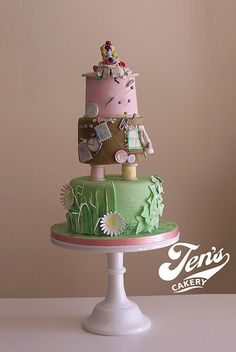Arrietty Cake, studio ghibli food Pretty Cakes, Beautiful Cakes, Amazing Cakes, Chocolate Fridge Cake, Anime Cake, Cakes For Women, Occasion Cakes, Creative Cakes, Celebration Cakes